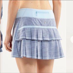 Lululemon 10 Tall Pace Setter Skirt Caspian Blue